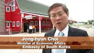 South Korean Minister of Economic Affairs from Korean Embassy Visits Farms in Michigan
