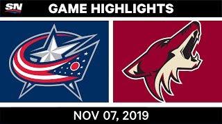 NHL Highlights   Blue Jackets vs. Coyotes – Nov. 07, 2019