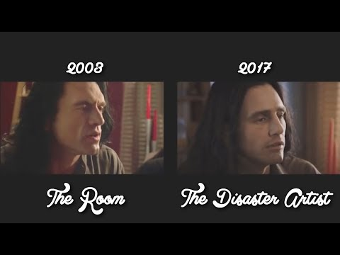 The Disaster Artist / The Room Side By Side Comparison Scenes