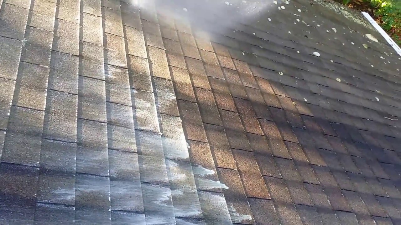Applying Cleaner For Roof Mold Removal Youtube