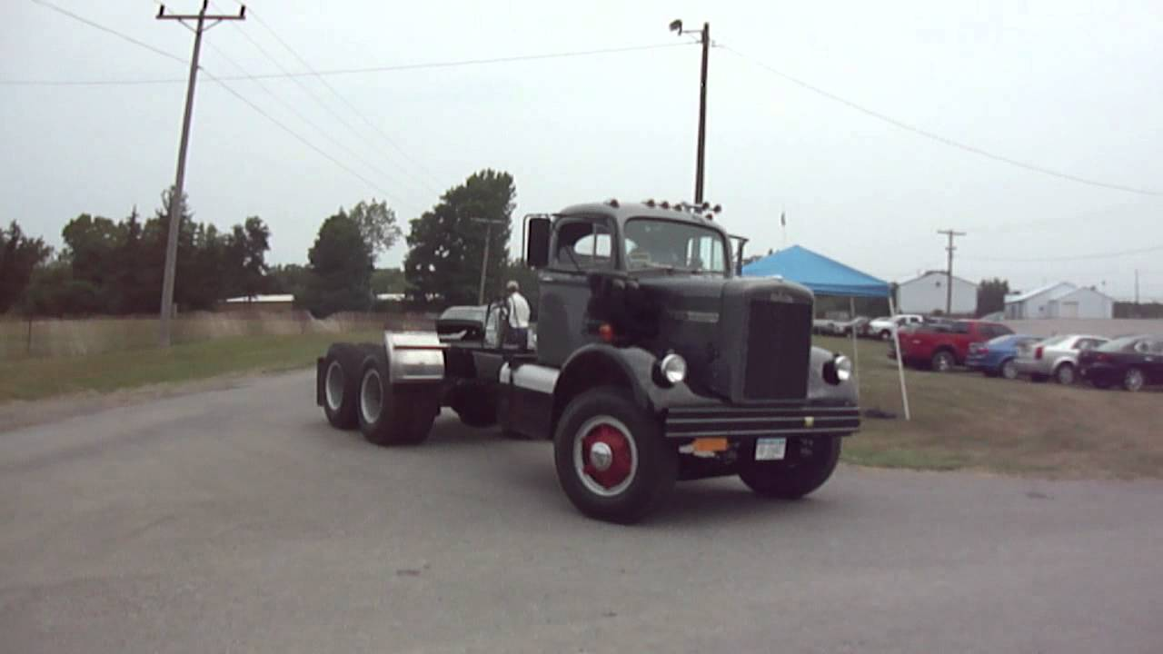 1965 White 4000 Semi Tractor : White mustang truck youtube