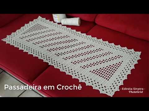 Passadeira em Crochê / caminho de mesa em crochê
