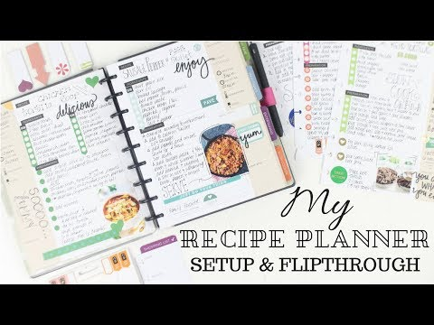 My Recipe Planner Setup &  Flipthrough | Classic Happy Planner | At Home With Quita