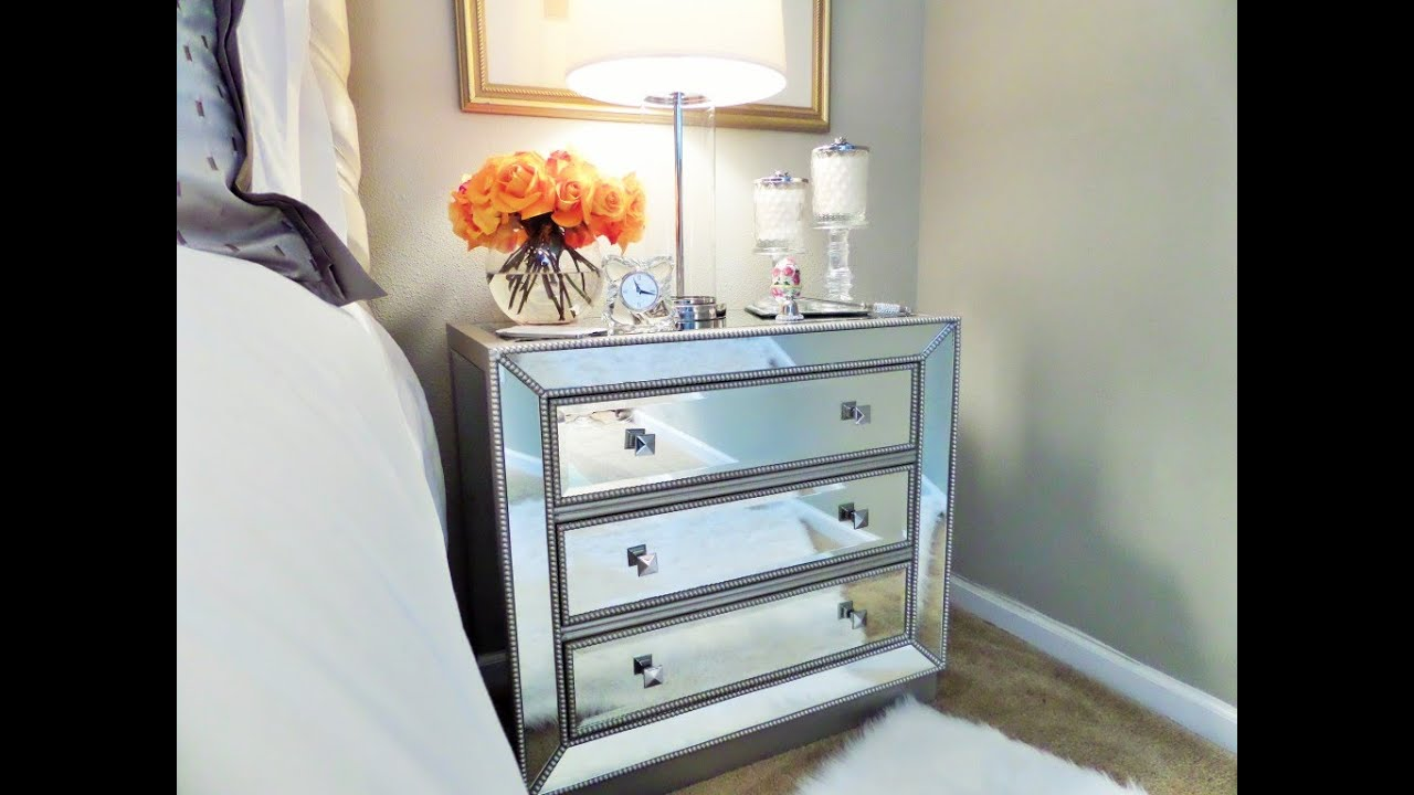 Bedside table organization youtube Things to use as nightstands