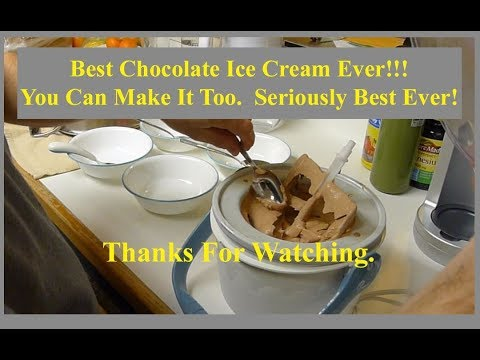 Best Chocolate Ice Cream Ever!!!  How To Make Homemade Ice Cream Yourself, Very Easy.