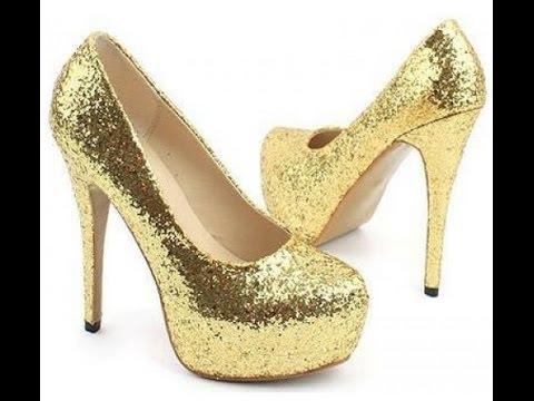 Мастер класс, как сделать золотые туфли