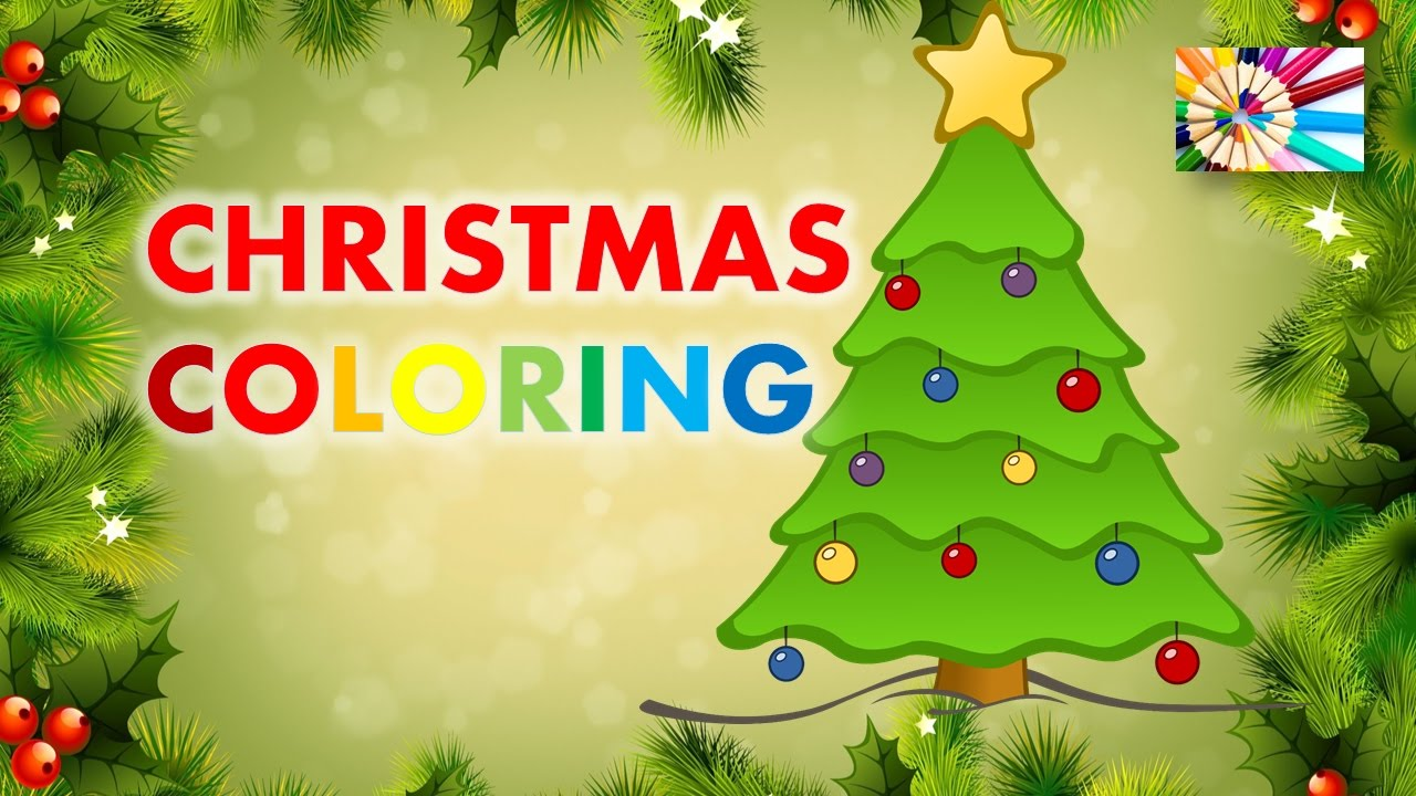 Attractive Christmas Tree Coloring Embellishment - Coloring Page ...