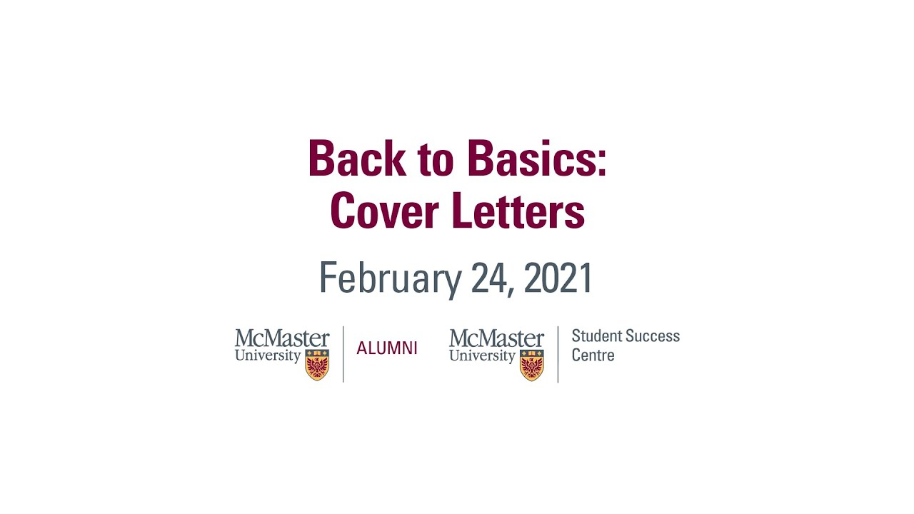 Image for Back to Basics: Cover Letters webinar