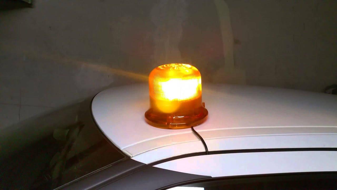 gyrophare led orange fx5 iso effet rotatif ece r65 youtube. Black Bedroom Furniture Sets. Home Design Ideas