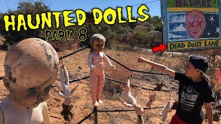 Evil Doll Haunted me at the park with CREEPY CLOWN DOLLS like Scary Halloween Ghosts - Part 8