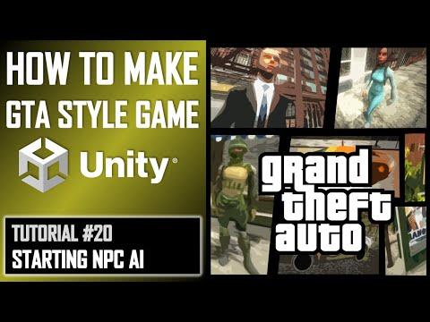 How To Make A GTA Game For FREE Unity Tutorial 020 - NPC AI thumbnail