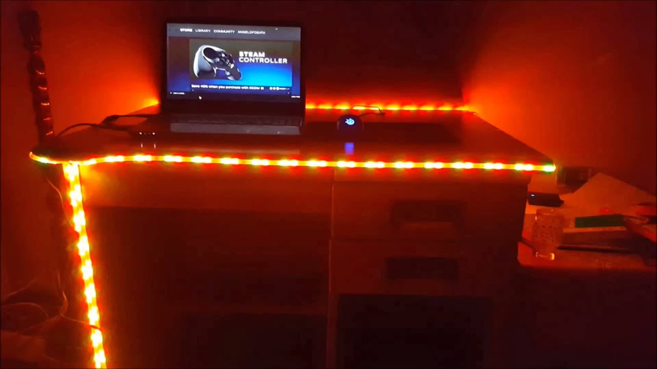 Led Lights For My Gaming Table Youtube