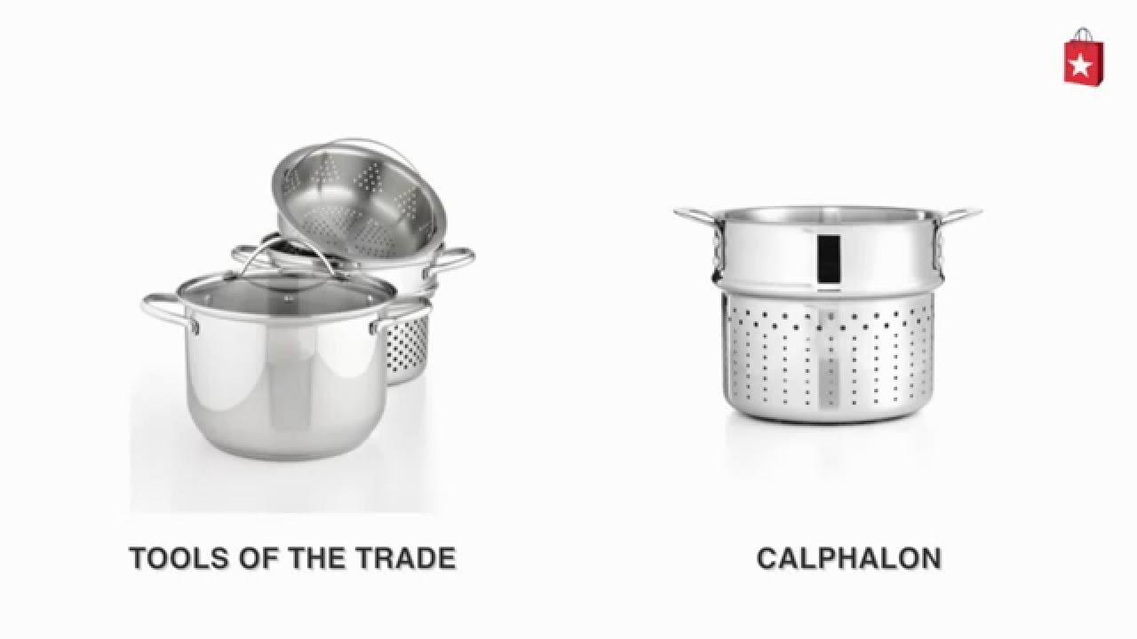 calphalon triply stainless steel 6 qt pasta insert comparison video - Calphalon Tri Ply Stainless Steel