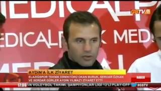 Okan Buruk, Serdar Özkan ve Serdar Gürler Aydın Yılmaz'ı hastanede ziyaret etti.