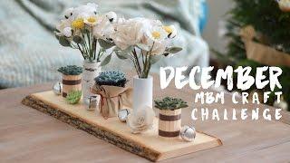 December MBM Craft Challenge / Centerpiece, Paper Flowers, Christmas Ornament
