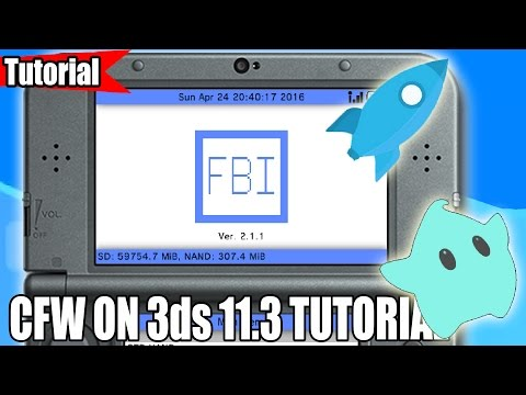 How to install CFW on Nintendo 3ds [11.3.0-36U]