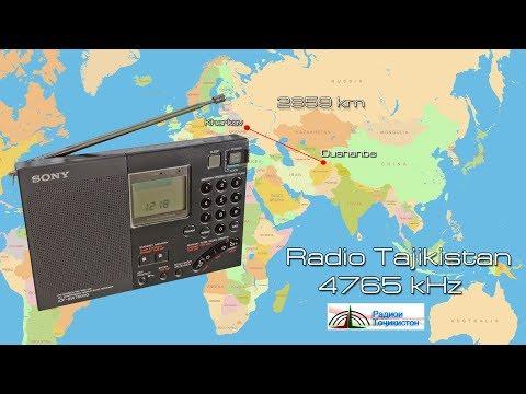 Radio Tajikistan (Dushanbe) 4765 kHz SONY ICF-SW7600G