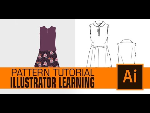 How To Make Seamless Pattern In Illustrator For Dress Designing Youtube