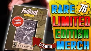 Unboxing ULTRA RARE LIMITED Fallout Merch! - Steel Special Card!!