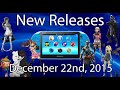 PlayStation Vita New Releases December 22, 2015 |PSVITA|