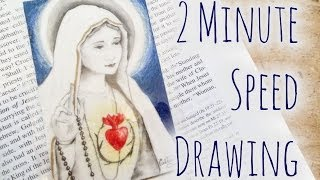 Speed Drawing of Our Lady of Fatima Bookmark | eclecticdesigns