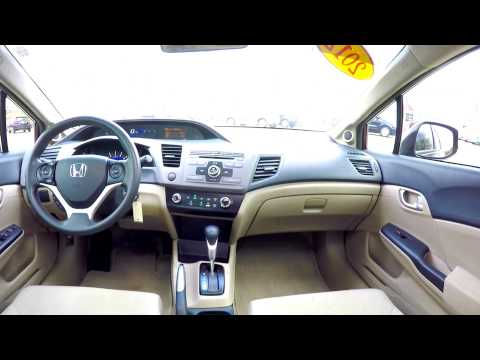 HONDA CIVIC EX MAROON GREAT GAS MILEAGE USED CAR 2012 / REVIEW HONDA