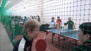 World Veterans Championships table tennis 2014 training hall