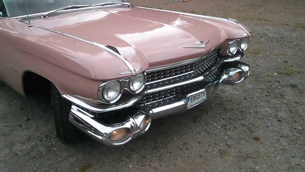 1959 Cadillac Coupe Deville Pink Engine Idling In Paint