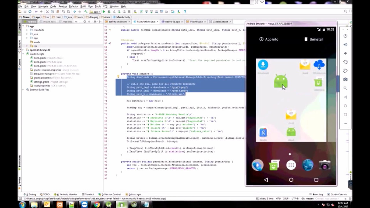 Android - Feature Matching - Akaze - OpenCV