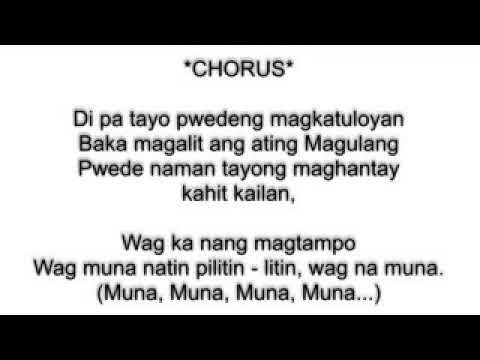 Wag muna-lyrics