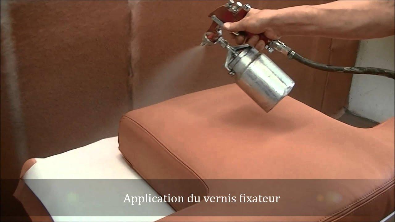 Transformation Dun Canapé Nubuck En Canapé Lisse ART Style Service - Comment teinter un canapé en cuir