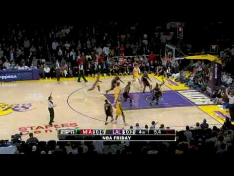 Los Angeles Lakers vs Miami Heat Recap (December 4, 2009)