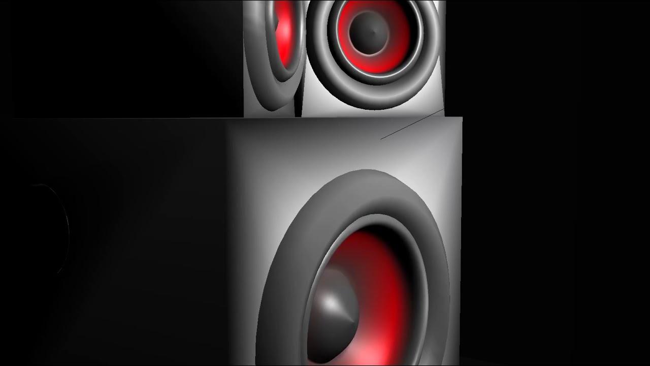 animated speakers music reactor youtube