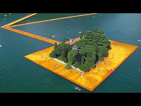 Christo - Walking on Water | official trailer (2019) Christos Floating Piers