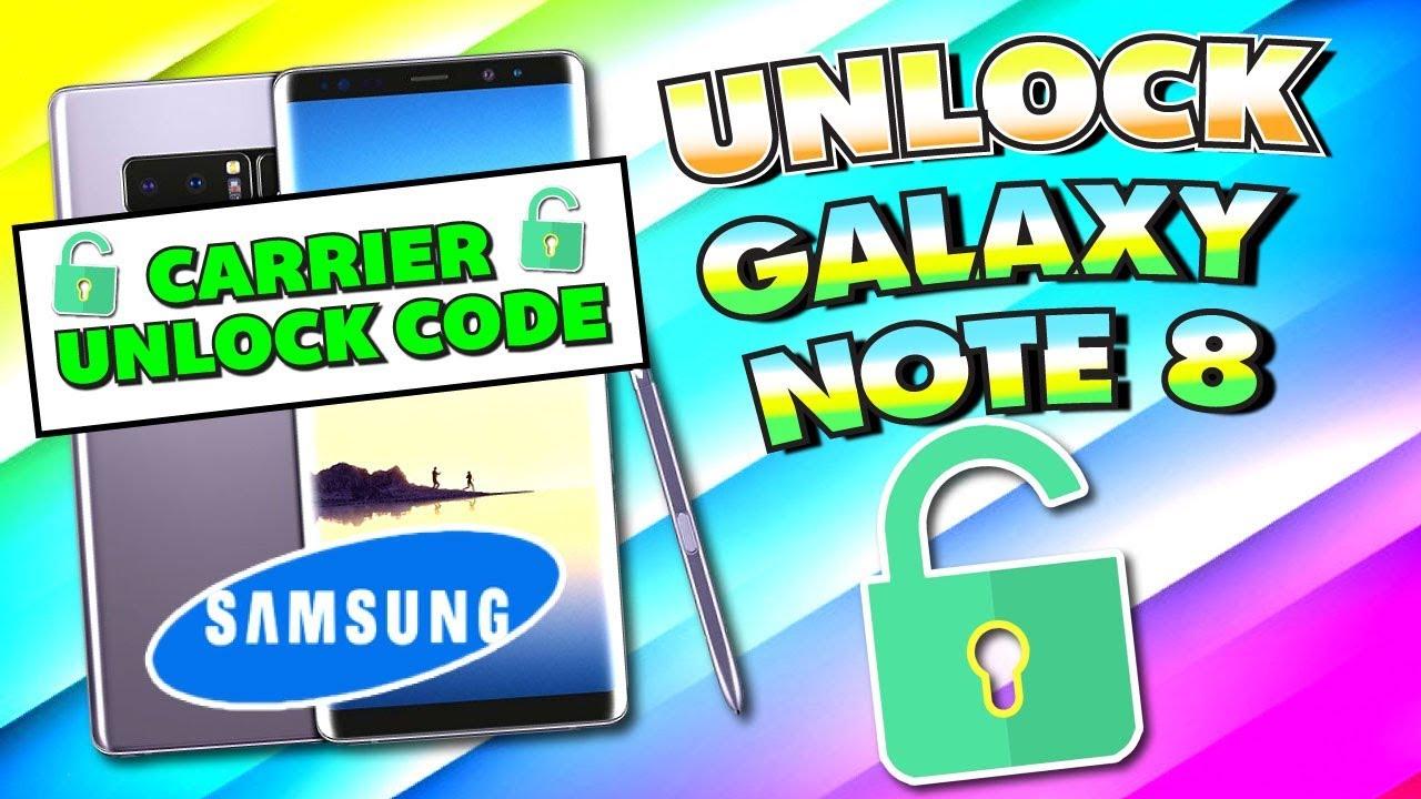 samsung note 8 unlock code