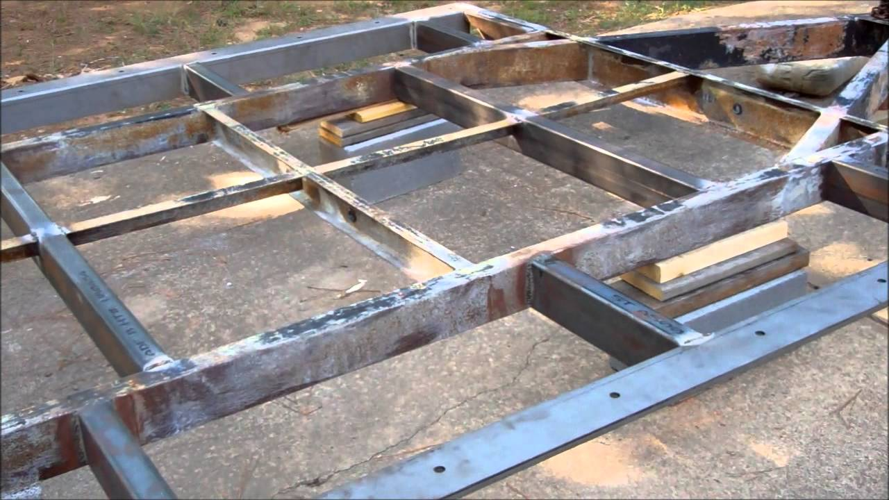 Tiny House Build Trailer Frame Part Two Youtube