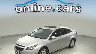 C10682RT Used 2014 Chevrolet Cruze 1LT FWD 4D Sedan Silver Test Drive, Review, For Sale