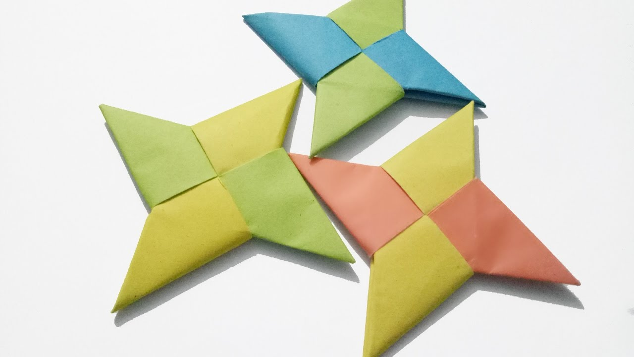 Paper Ninja Star (Shuriken) - Easy Origami Ninja Star ... - photo#41