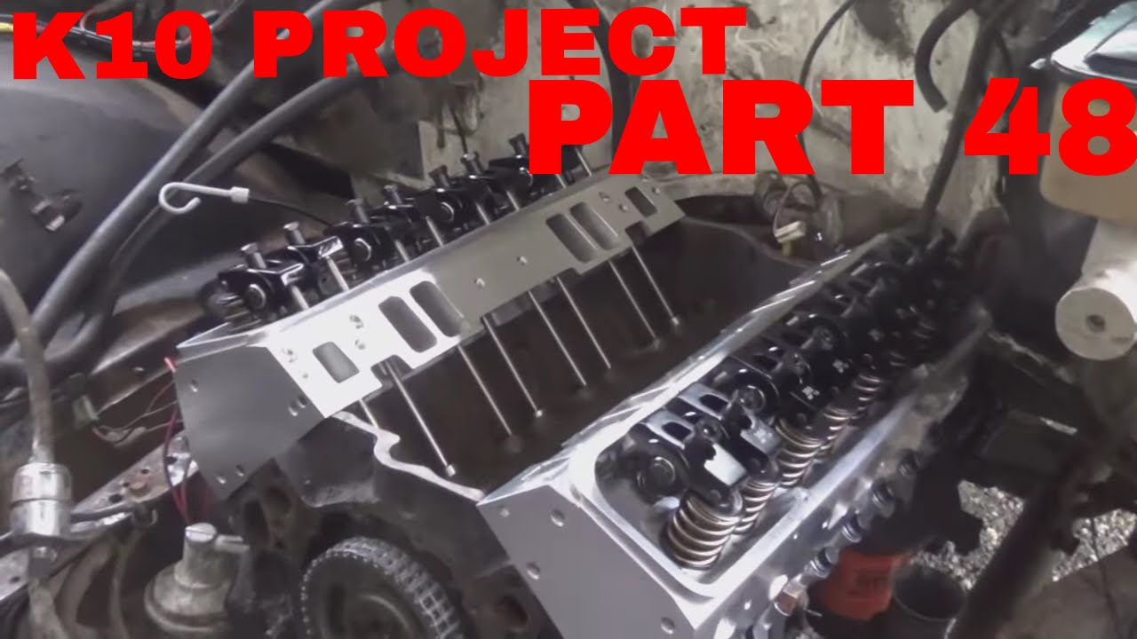 1985 K10 Project Part 48  Ebay aluminum heads