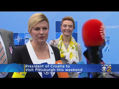 President Of The Republic Of Croatia Visits Pittsburgh For CFU 125th Anniversary