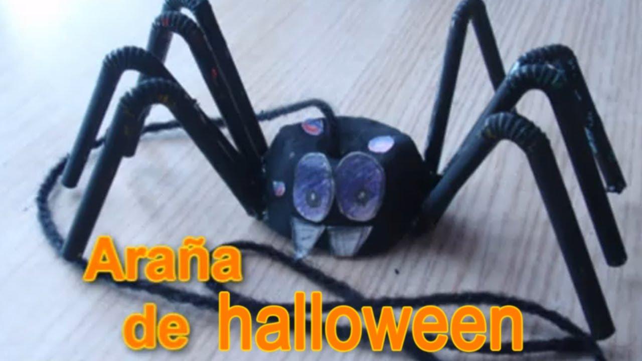 Arana De Halloween Manualidades Para Halloween Youtube - Cosas-para-halloween-manuales