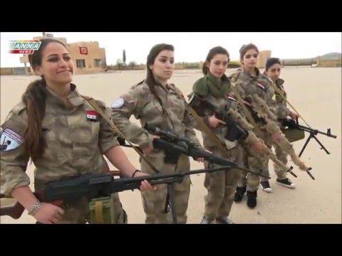 Syrian Women fighting for their fatherland Syria in Al Qamishli