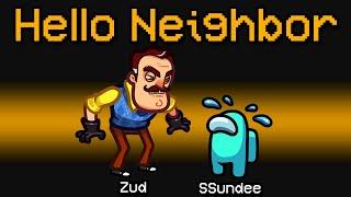 NEW Among Us HELLO NEIGHBOR ROLE?! (Minigame Mod)