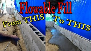 Sealing & Backfilling with FLOWABLE FILL.  Shop Repair