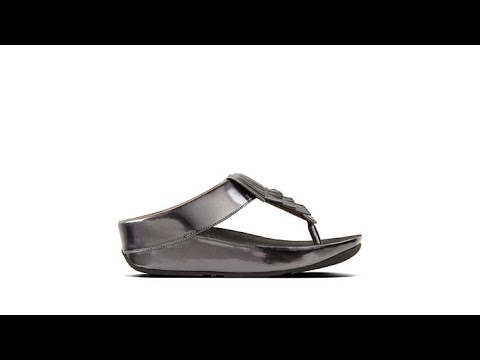 5631e52c5d24a3 FitFlop Cha Cha Fringe Toe Post Sandal - YouTube