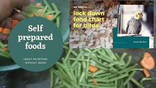 No seed for birds?? - Follow the soft food chart for your birds given in this video