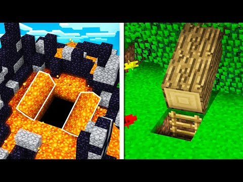 25 *SECRET* REDSTONE CREATIONS In MINECRAFT! (MCPE)