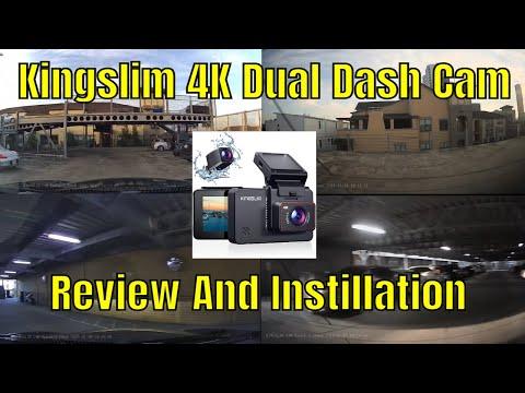 Kingslim 4K Dual Dash Cam Review And Instillation
