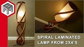 Laminated Cedar Spiral Lamp from Two 2x4&#39s