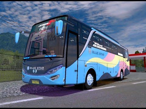 ETS 2   Adiputro New Setra JB HD 2 + P.O Blue Star Hino RN 285 Cimahi - Tasikmalaya